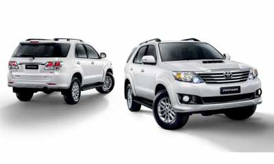 Toyota Fortuner for just 1000 baht per day (3 days minimum)