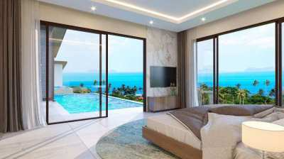 SEA VIEW Villas NEW * 600 m to beach * garden * garage * pool *