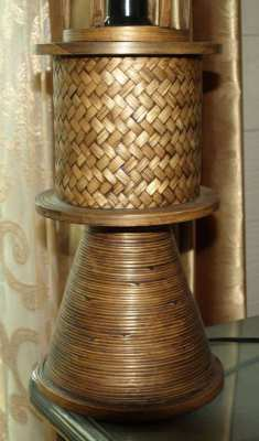 Hand made Bamboo Table Lamp New Never Used 50