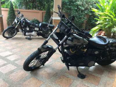 Fully customized Harley-Davidson Dyna Wide Glide