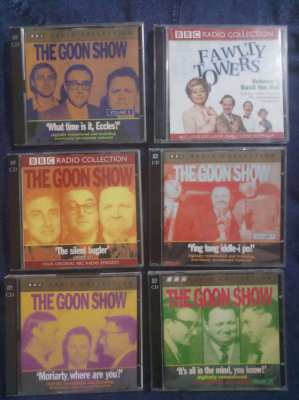 6 x 2 Comedy CDs - The Goons / Fawlty Towers
