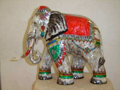 Elephant with mother of pearl 12
