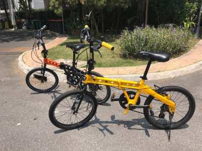 2x Folding bikes doppelgänger high end folding bike Japanese aluminum