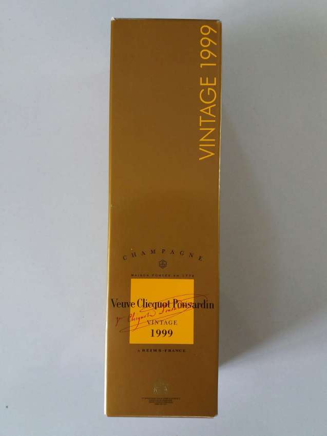 Free Shipping Champagne Vueve Clicquot Ponsardin Vintage 1999
