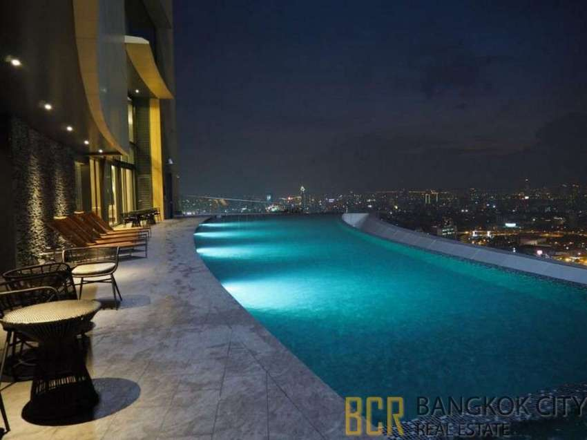 Lumpini 24 Ultra Luxury Condo Breathtaking View 2 Bedroom Unit Rent
