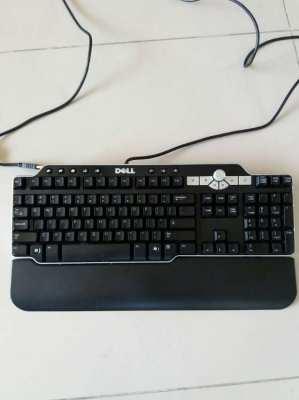 Dell MultiMedia 104-Key USB Black w/Silver Trim Keyboard 2 USB Connect