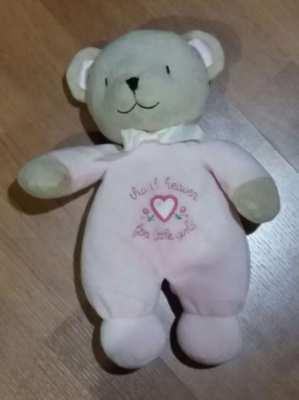 NEW YEAR SALE! Price Drop! Carter Pink Thank Heaven-Little Girls Bear