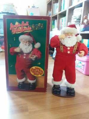FREE SHIPPING! Jingle Bell Rock Dancing Singing Santa Claus
