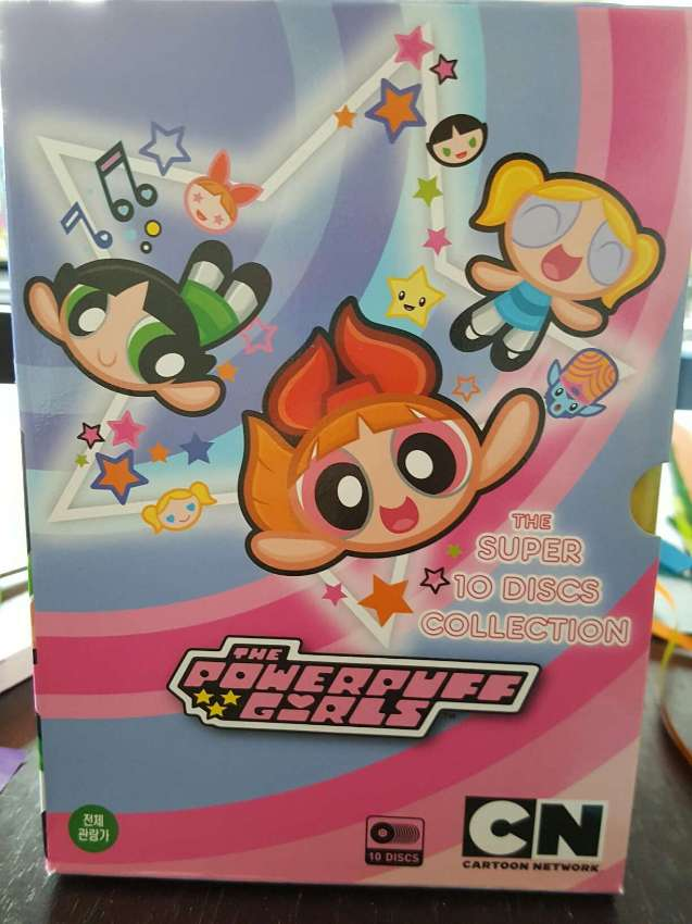 Free Shipping The Powerpuff Girls The Super 10 DVD Discs Collection