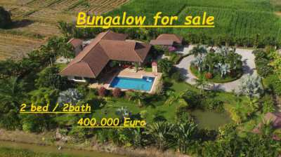 Bungalow  with pool for sale, near Chiang Mai Thailand.