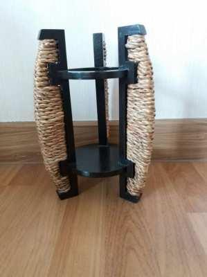PRICE DROP!  Wooden Wine Bottle Holder Handmade