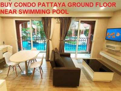 Buy Condo Pattaya Ground Floor Front Swimming Pool - 1 MB MAXIMUM