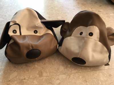 Kids animal shaped beanbags