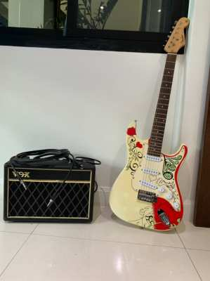 Fender Electric Guitar and VOX Amplifier