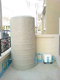 Providing installation service for backup water tanks