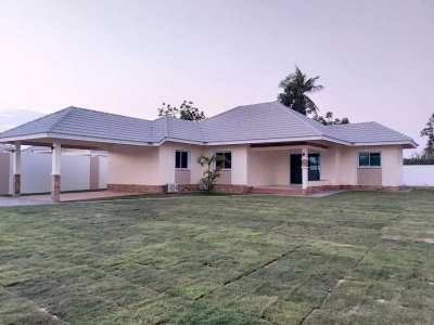 New Foreign Built  Unfurnished 3 BR 2 Bath Home on Large Plot