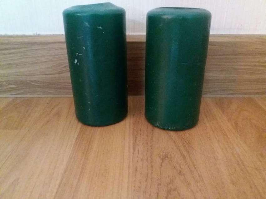 Hand Made Scented Pillar Candles (Set of 2) (Hunter Green)