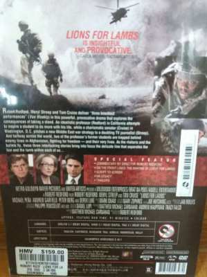 Price Drop Free Shipping Lions For Lambs DVD