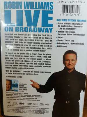 NEW YEAR SALE! Robin Williams Live on Broadway DVD