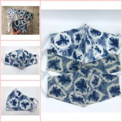 New patterned cotton mask, beautiful, dyed cloth, Sakon Nakhon