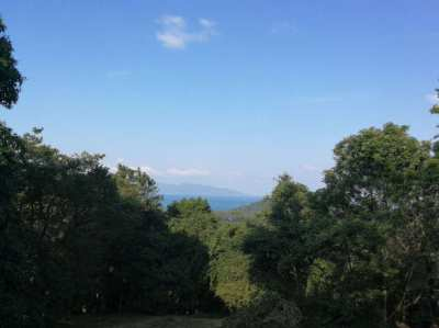1740 sqm hill top freehold land in Santi Thani / Bang Por for sale