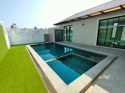 Reduced Price! New Unfurnished 2 BR 3 Bath Pool Villa 5 Min to  Town