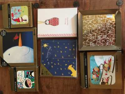 Selection of packs of Christmas cards from the UK