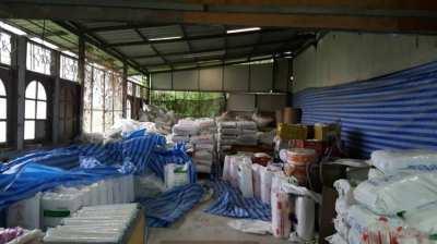 Rental of land, warehouse, factory in Romklao area, 100 baht per square meter