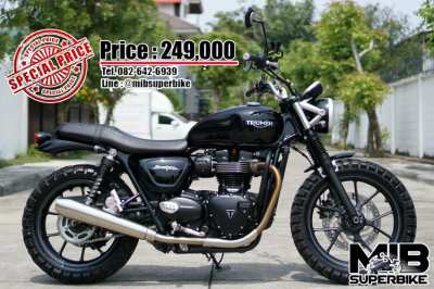 Triumph Street Twin 2017 in very good condition with low km!