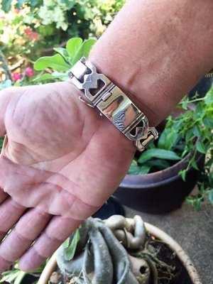 92.5 % Sterling Silver Bracelet set
