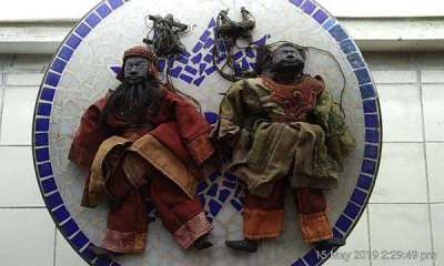 Hand made N Thai puppets - Khap and Kha (Jomtien)