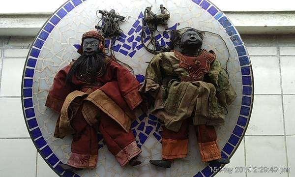 Hand made N Thai puppets - Khap and Kha (Jomtien)