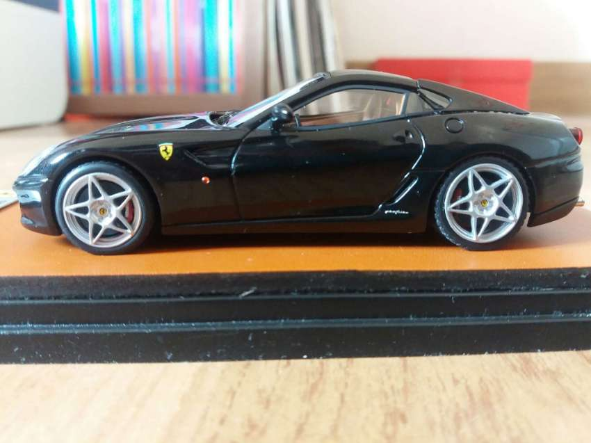 Ferrari Fiorano Black Model Car in a Case