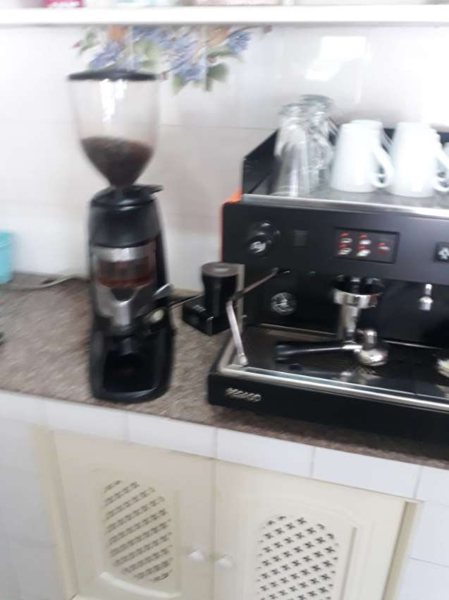 Expresso coffee machine and coffee grinder