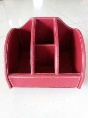 ราคาตก! PRICE DROP! Red Italian Leather Desk Organizer