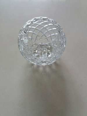 PRICE DROP Hand Made - Lead Crystal Rose Bowl - Made in Europe