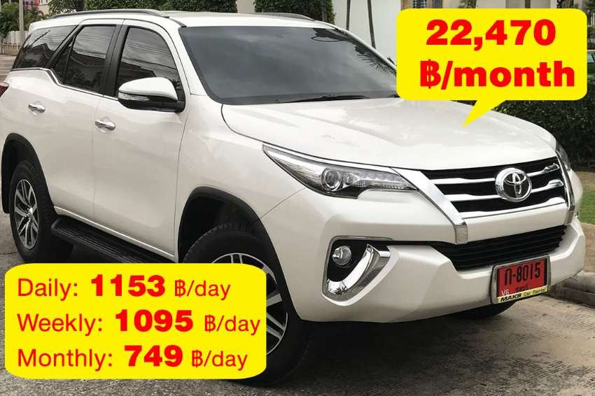 Toyota Fortuner for rent - 22470 ฿/mo