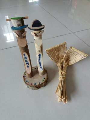 NEW YEAR SALE!Korean Decorative Husband & Wife Craft w Hand Rice Scoop