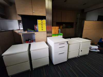 2 drawers cabinet, second hand, office