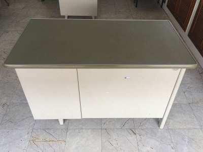 Metal Office Desk 123cm
