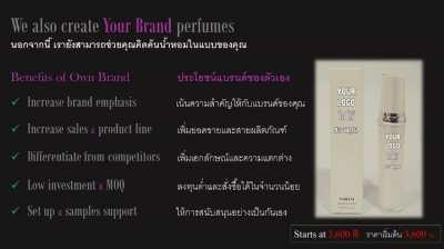 Perfumes as Gifts, Perfume Bar & Create Own Brand Perfume
