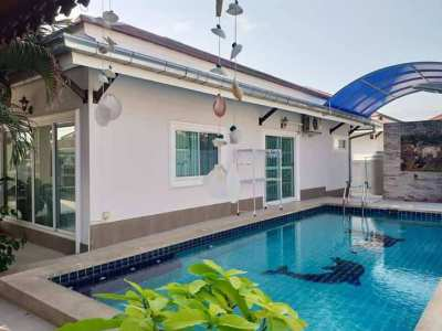 Pool villa for Rent In Bang Saray Sattahip  3beds 25,000/month