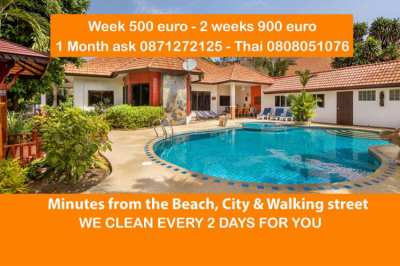 Villa Pattaya Hill with private pool, 6 bedrooms