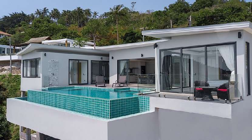 For sale 3/5 bedroom villa Chaweng Noi Koh Samui with sea view