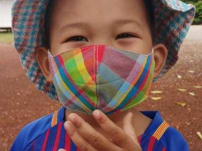Children's Facemasks, Multicoloured, Cotton, Washable  - By KingSap