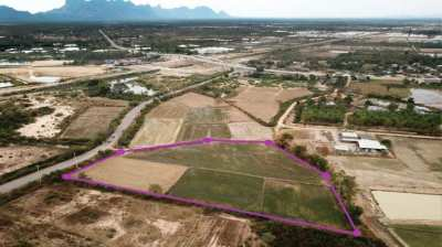 Land 6 rai 17 T.w. for sale in Pranburi - Sam Roi Yot Railway Project