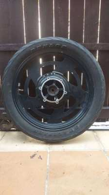 FOR YAMAHA V MAX 1200ccm ORIGINAL FRONT WHEEL WITH TYRE