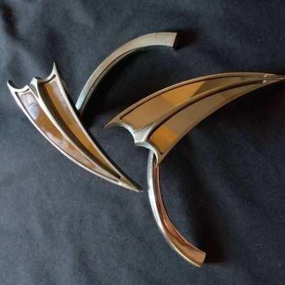 FOR HARLEY DAVIDSON ARLEN NESS 2 SPLIT MIRRORS CHROMED SUPER COOL !!!