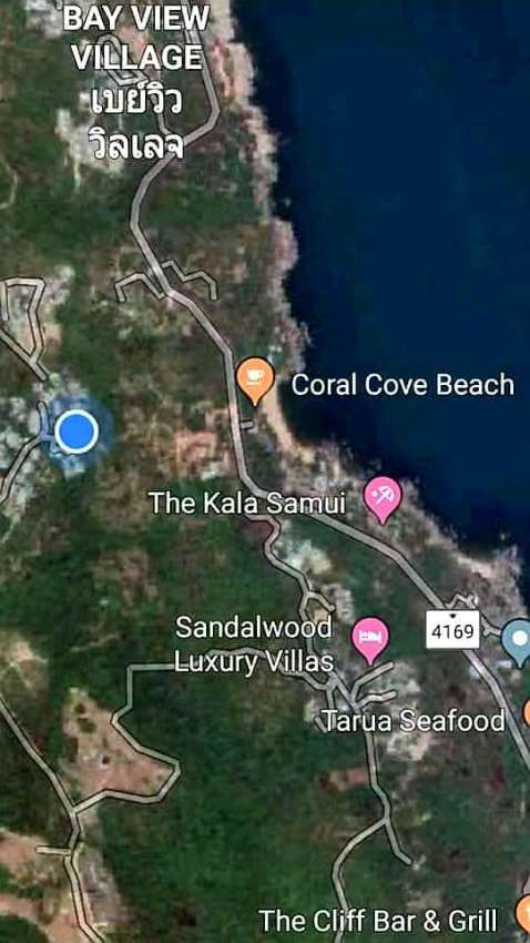 For sale sea view land in Chaweng Noi Koh Samui - 748 m²