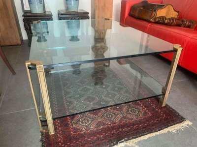 Glass art deco table